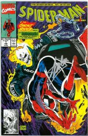 Spider-Man #7 First Print (1990) Signed Stan Lee Ghost Rider Marvel comic book